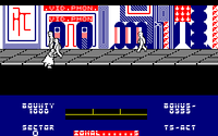 Blade Runner amstrad cpc screenshot on the move