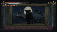 Lienzo del toro y la luna