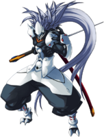 Hakumen (Continuum Shift, Character Select Artwork)