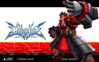BlazBlue Battle Cards (Announcement of Iron Tager)