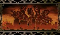 Hakumen (Calamity Trigger, Arcade Mode Illustration, 1)