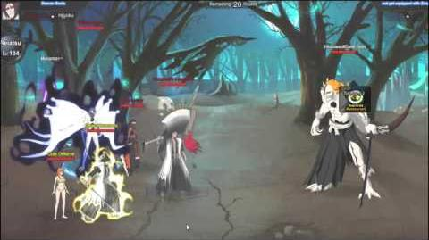 Bleach Online Showing my stats and Evil Spirit set up