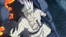 Kokuto mira desesperado como Ichigo es expulsado del infierno por el Kido de Renji