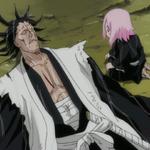 Yachiru comes to Kenpachi's aid.png