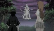 Sode no Shirayuki in front of Rukia and Inoue