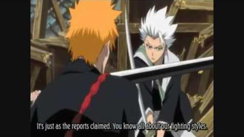 Ichigo vs Ikkaku and Toshiro Hitsugaya HD