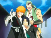 Ichigo y Ganju toman como rehén a Hanatarou