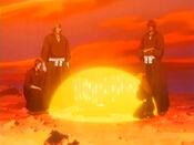 Orihime curando a Ichigo