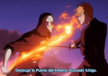 Shuren le dice a Ichigo que destruya las puerta del infierno