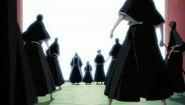 Byakuya and the others emerge from the Senkaimon