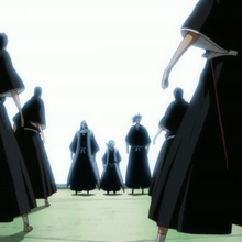Byakuya and the others emerge from the Senkaimon.png