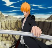O308 Ichigo zatrzymuje miecz gołą dłonią