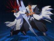 Kenpachi golpea a Tousen