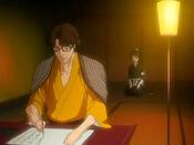 Hinamori en la habitacion de Aizen