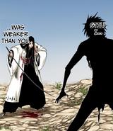 Yachiru Unohana vs joven Zaraki.png
