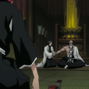 Unohana tends to Yamamoto's injuries.png