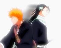 O17 Byakuya przemieszcza się za Ichigo za pomocą Senka.png