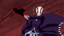 Ichigo a punto de usar Getsuga Tensho
