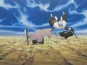 Ichigo defeats Chojiro Isane