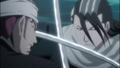 Renji clashes with Byakuya