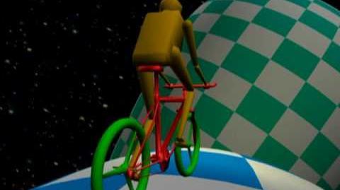 Cyclist on Klein Bottle