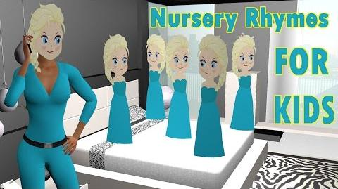 5 Little Elsa Jumping On The Bed - Nursery Rhymes for Children - 3D Animation