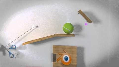 Rube Goldblender - A Rube Goldberg animated machine in 3D