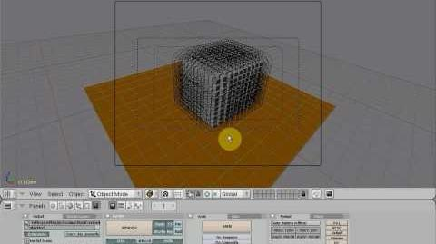 Blender meshes explode video and tutorial