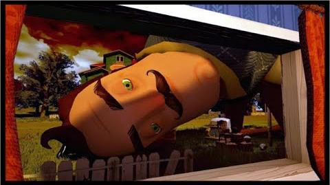 GIANT NEIGHBOR NIGHTMARE JUMPSCARE!? - Hello Neighbor Pre Alpha