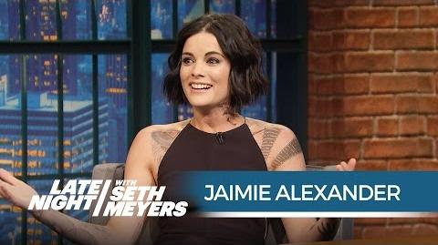 Blindspot's Jaimie Alexander The NYPD Thought the Show Was Real! - Late Night with Seth Meyers