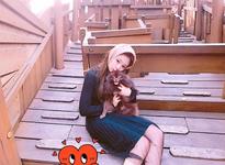 Jennie and Kuma at the park