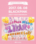 BLACKPINK's first anniversary Rosé drawing