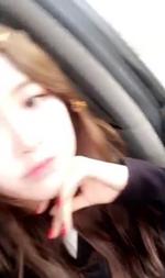 Rosé in the car 3