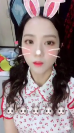 Jisoo as a bunny