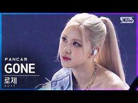 -안방1열 직캠4K- 로제 'GONE' (ROSÉ FanCam)│@SBS Inkigayo 2021.03.14.