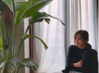 Rosé by a plant on Instagram 2