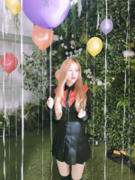 Rosé with balloons