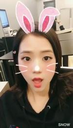 Jisoo as a rabbit