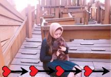 Jennie and Kuma at the park 2