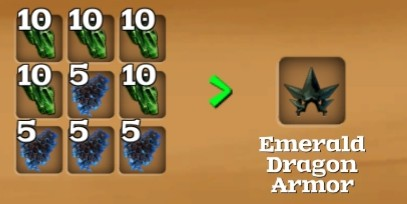 Dragon Armor Recipe : Rarely, you'll find unique items with a small star beside their icon.