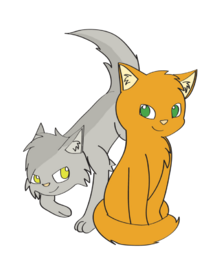 Fireheart and graystripe by chaoticfeline-d5dy5t7.png