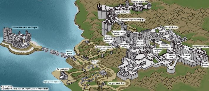 Полная карта мира Bloodborne