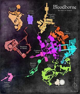 Карта Bloodborne