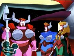 Brun, Sig and Hilda.