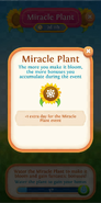 Miracle Plant flower bloom 1 extra day for this event