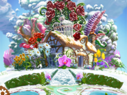 Blossom Blast Saga main menu background (winter-theme)