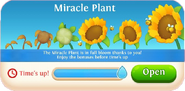 Miracle Plant event time up tab