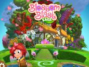 Blossom Blast Saga main menu (valentine-theme) Facebook