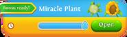 Miracle Plant Progress Summary Bonus ready tab