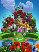 Blossom Blast Saga garden full background